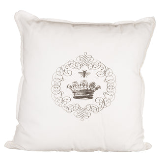 Simply French Pillow with Crown