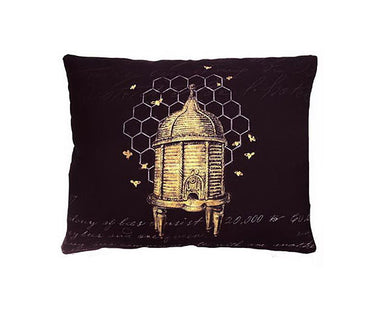 Vintage Bee Skep Pillow