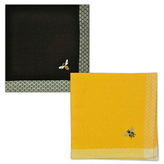 Simple Bee Embroidered Napkin