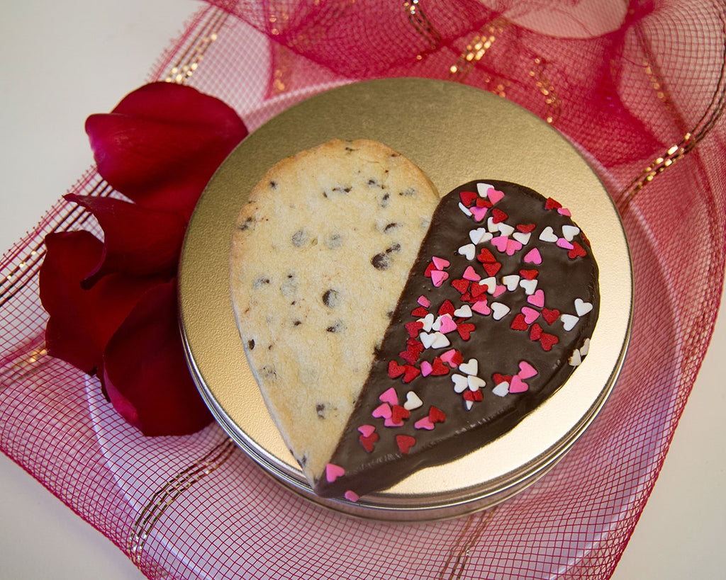 Large Heart Shaped Chocolate Chip Cookie