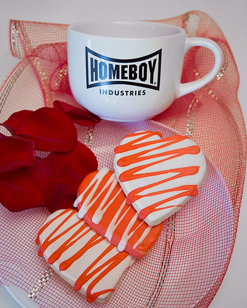 Valentines Day Sugar Cookies and Compassion Cappuccino Mug