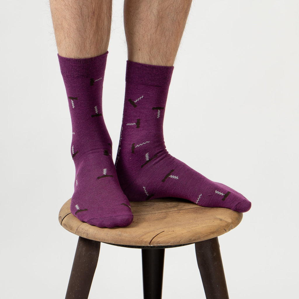 Sommelier Socks - Purple