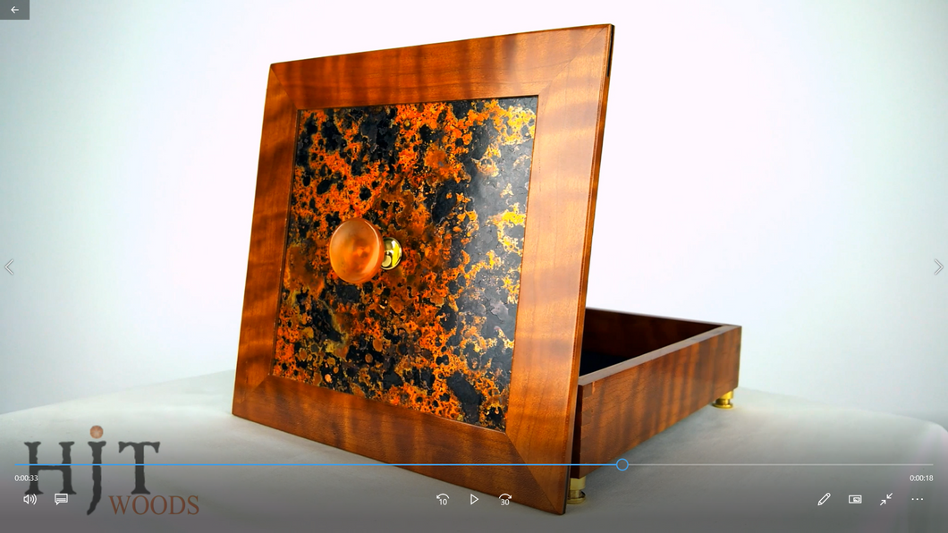 Curly Cherry Box Patinated Copper Top