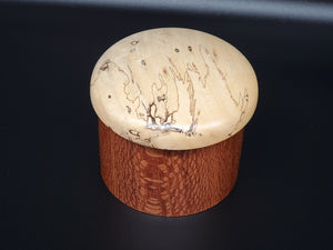 Lacewood and Spalted Tamarind Salt Box