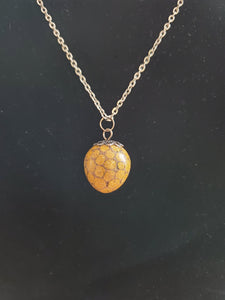 Sweetgum Ball Pendant - Yellow Jasper