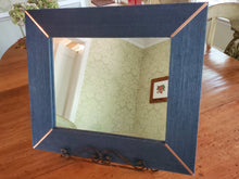 Load image into Gallery viewer, Blue Indigo Grasscloth Frame with Copper Accents