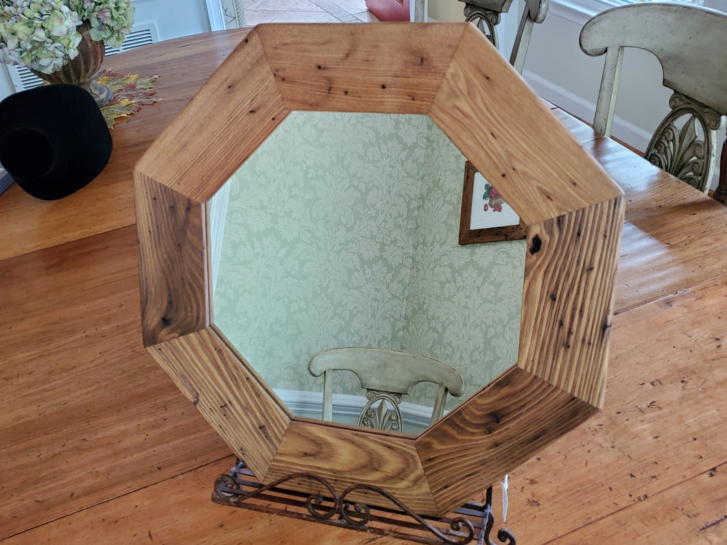 Wormy Chestnut Frame and Mirror