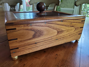 Wormy Chestnut Box with Walnut Splines at Corners