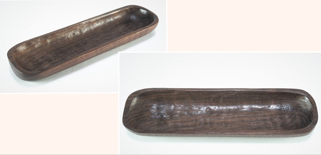 Walnut Jewelry Canoe - 10