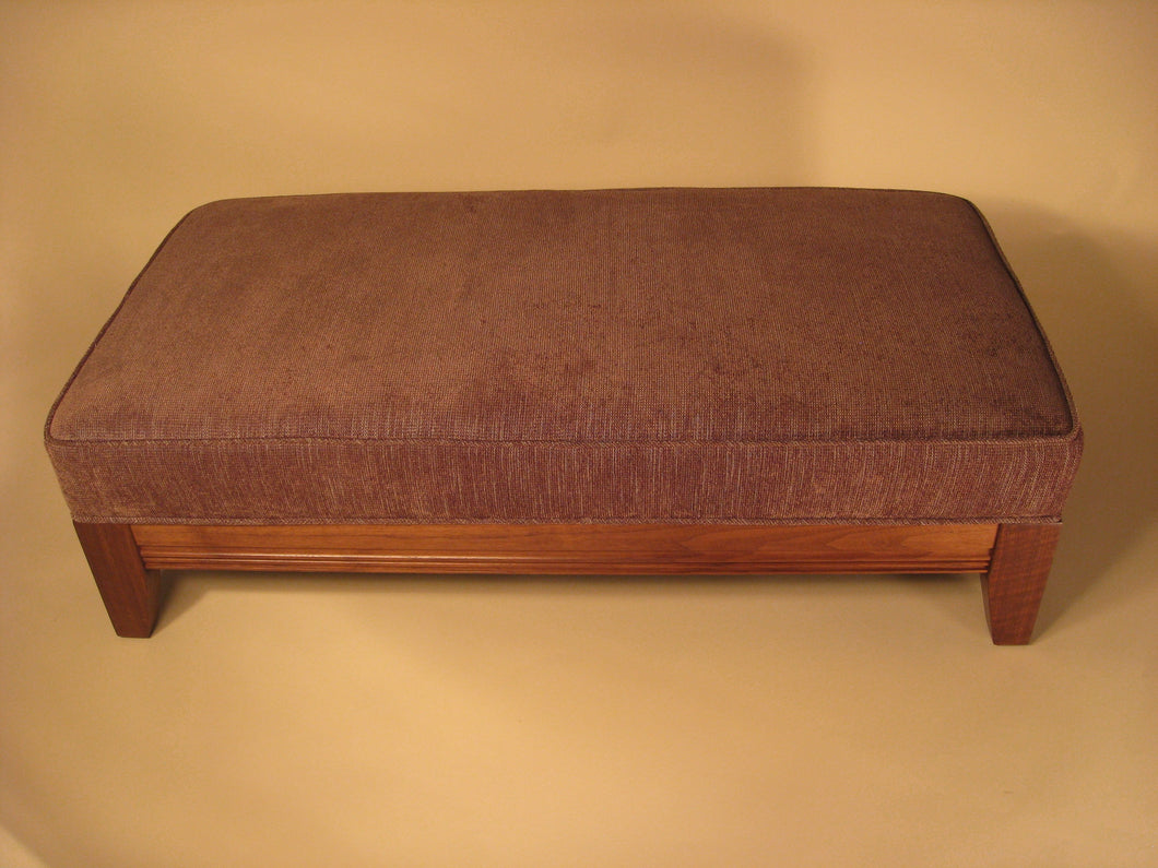 Figured Walnut Ottoman