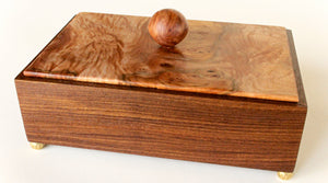 Amazon Rosewood Box with Elm Burl Top
