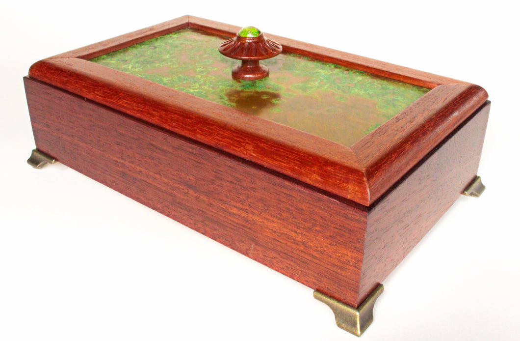 Amazon Rosewood Box with Mahogany Framed Copper Top