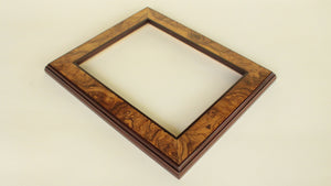 Olive Ash Burl Veneer Frame with Brown Rosewood Trim