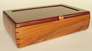 Canarywood Box with Redwood Burl Veneered Panel