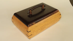 Dyed White Oak Box, Wenge, Bocote/Brass Handle