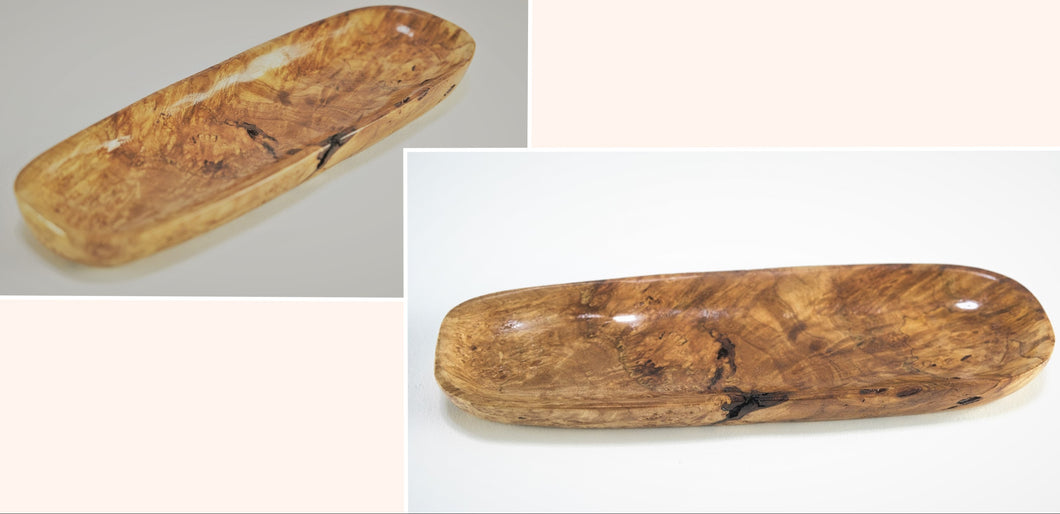 Maple Burl Jewelry Canoe - 19