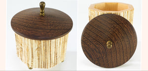 Octagonal Grasscloth Box with Wenge top