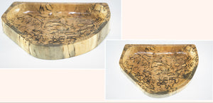 "Spalted Maple Jewelry Canoe - 8"" x 5.5"" x1""   SOLD - CAN BE REPRODUCED"