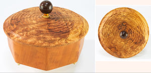 Octagonal Box made from Figured Cherry