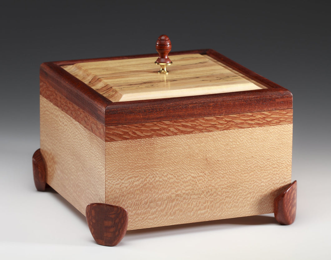 Sycamore Box with Lacewood and Honduran Mahogany