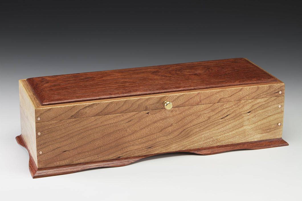 Jewelry Box - Cherry and Goncalo Alves/Natural Stone