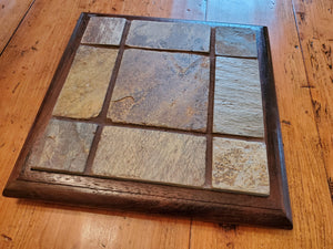 Custom Made Trivet with Walnut Frame