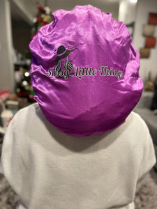 Purple Satin Bonnet
