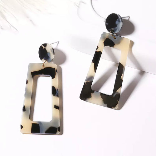 Two Toned Acrylic Drop Earring