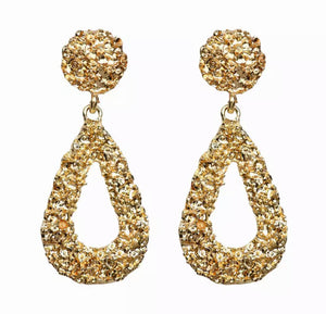 Gold Rain Drop Earring