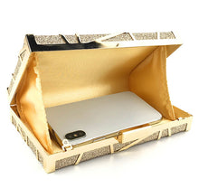 Load image into Gallery viewer, Gold Sophisticated Evening Clutch