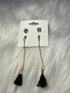 Stud and Black Tassel 2pc set