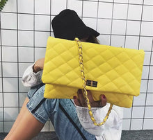 Load image into Gallery viewer, Large Clutch Purse in yellow or black