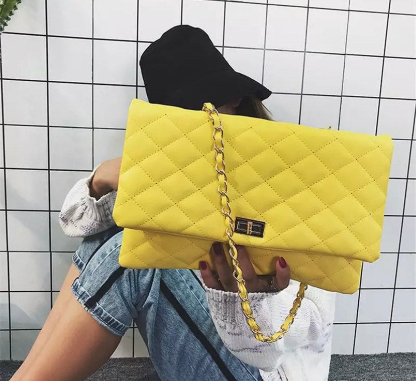 Large Clutch Purse in yellow or black