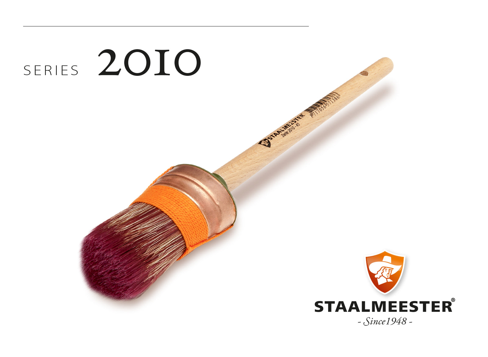 Staalmeester Oval Brush