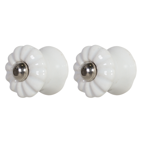 White small ceramic knob