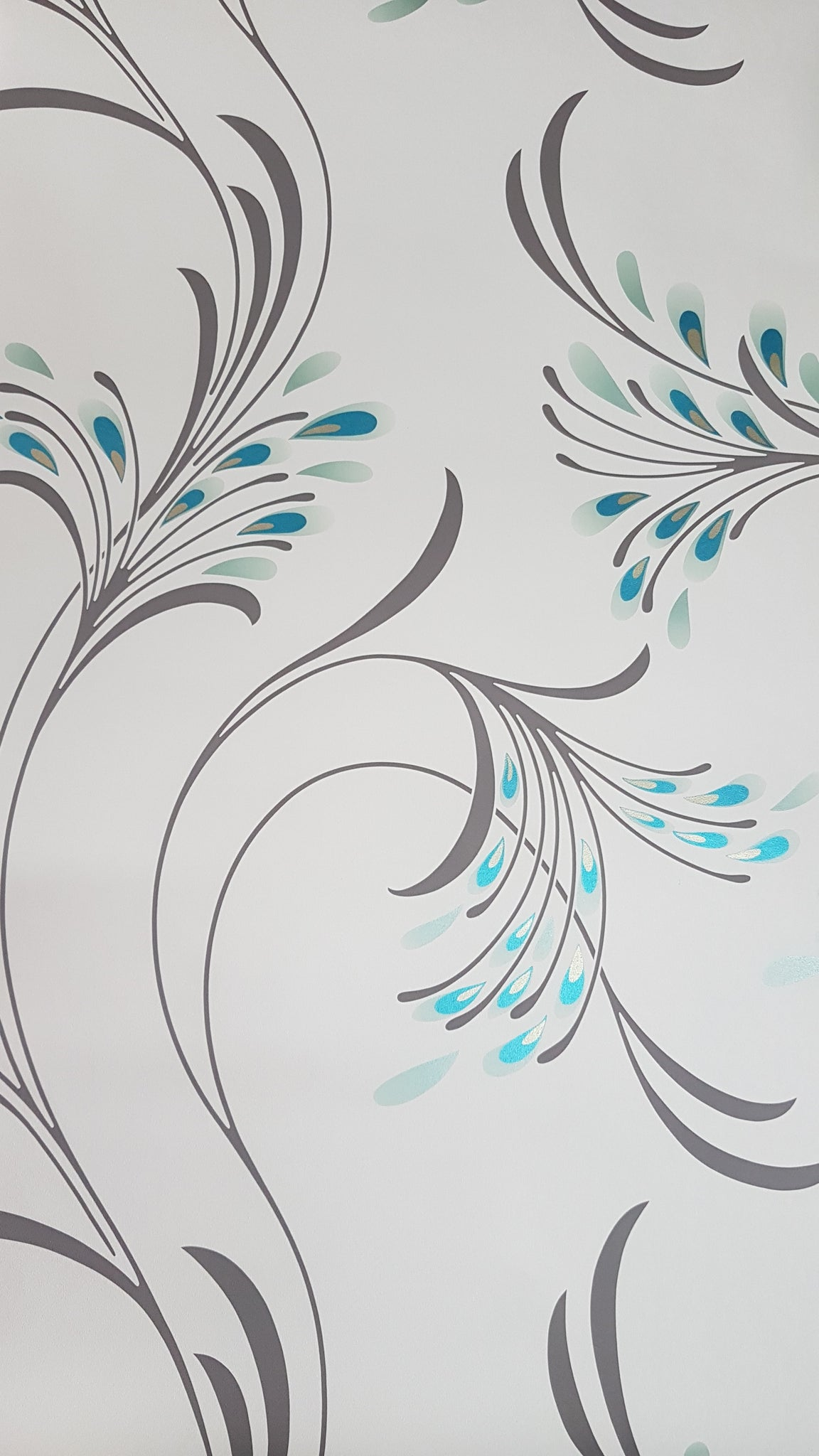 Wallpaper vintage peacock feathers / metre