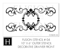 Fusion Mineral Paint Drawer stencil