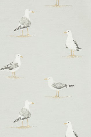 Sanderson Shore Birds Wallpaper in Gull / metre