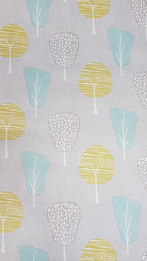 Wallpaper retro style trees / metre