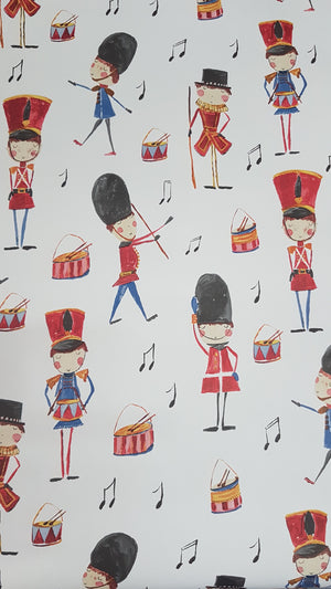 Wallpaper children's beefeaters and soldiers / metre