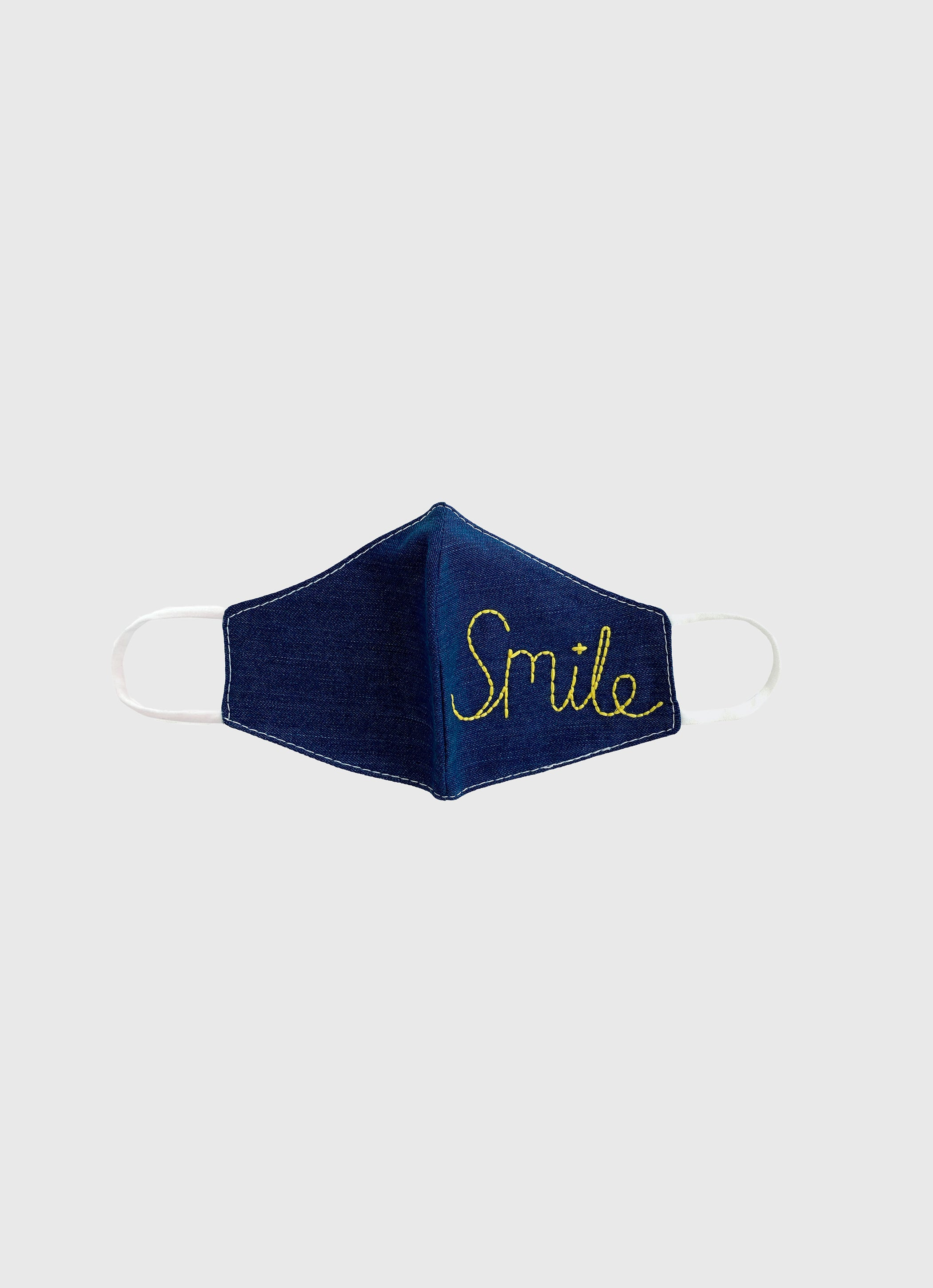 Embroidered Mask- Smile