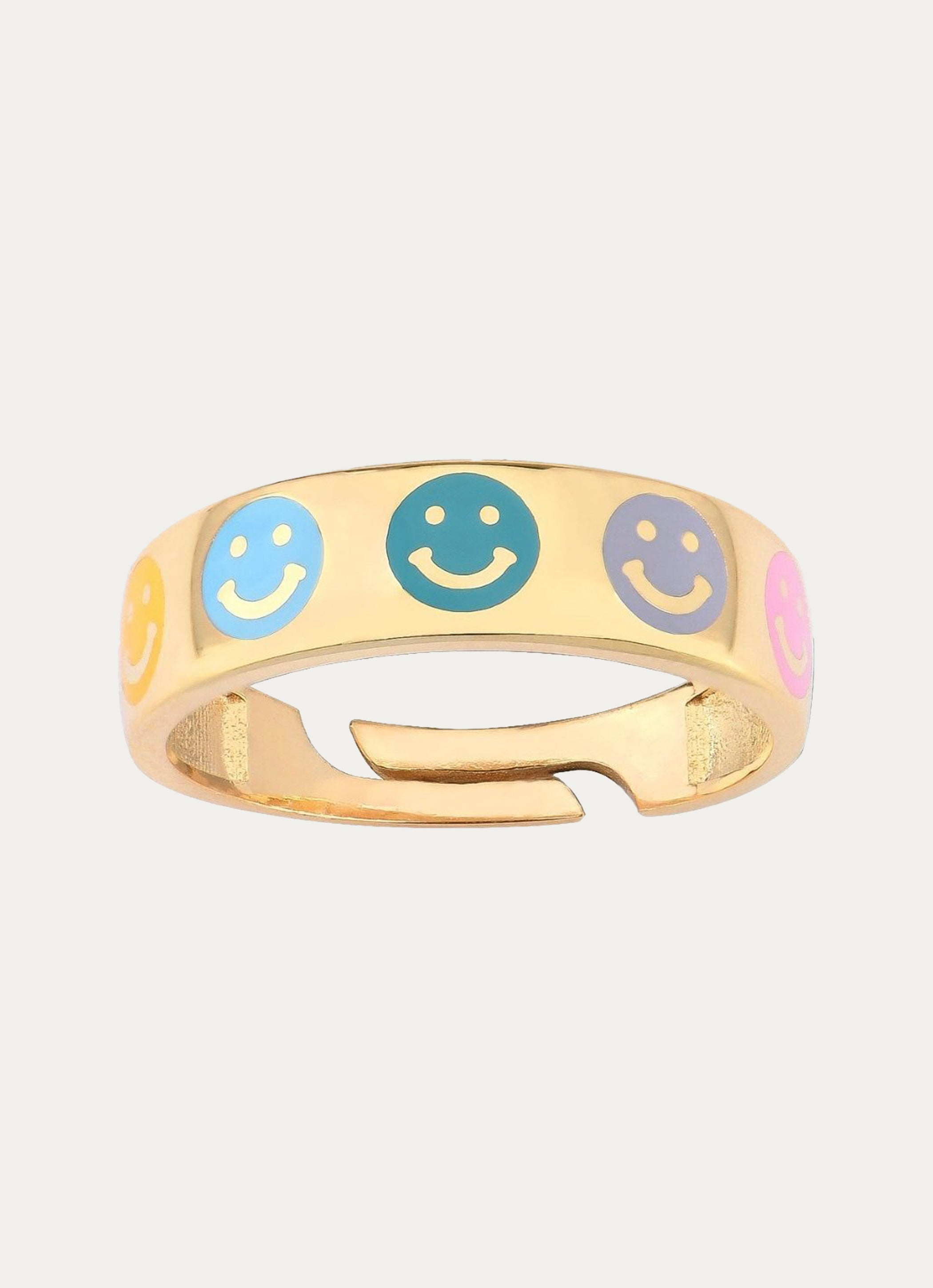 Colorful Smiley Ring