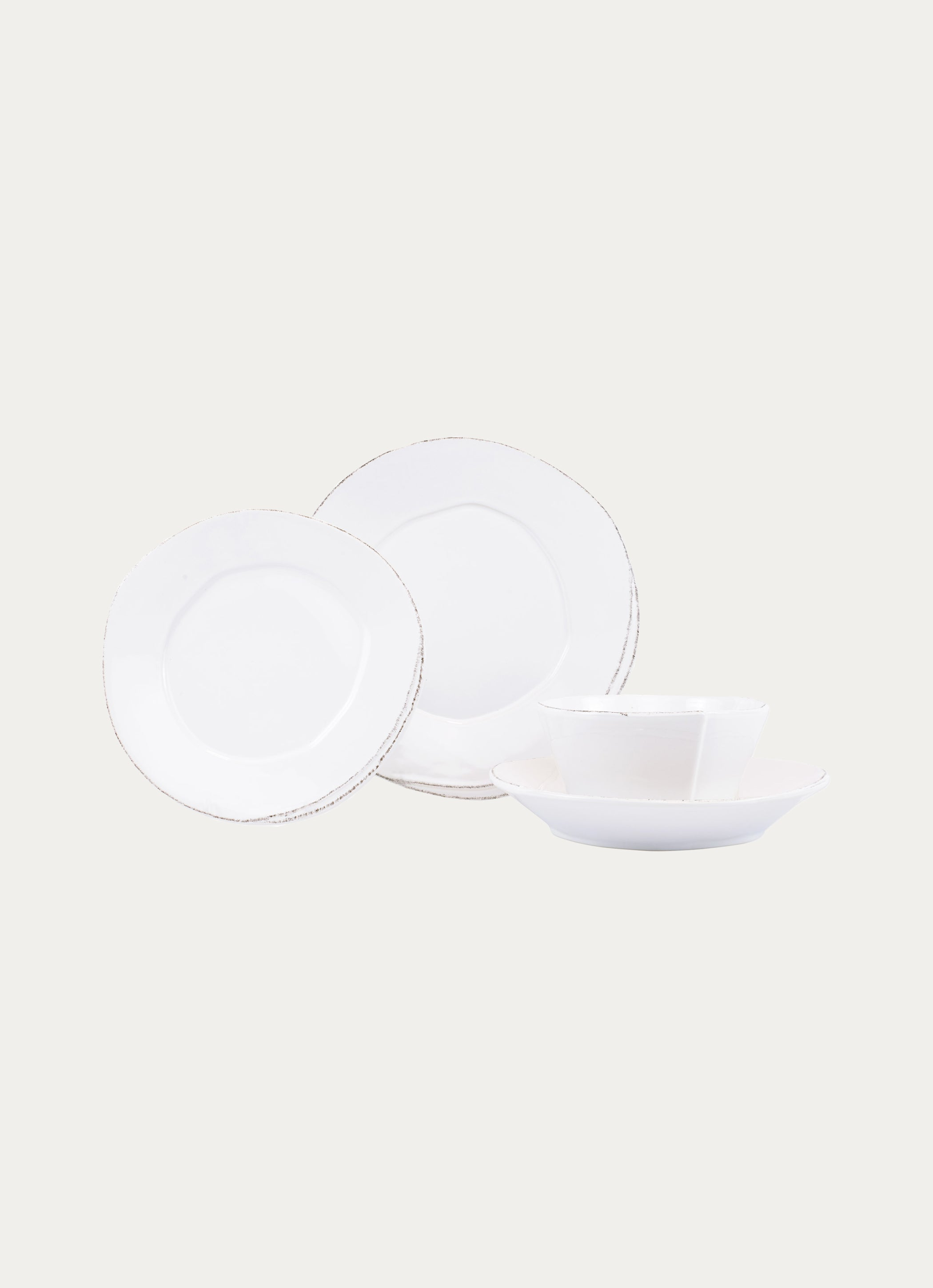 Lastra White Four-Piece Place Setting