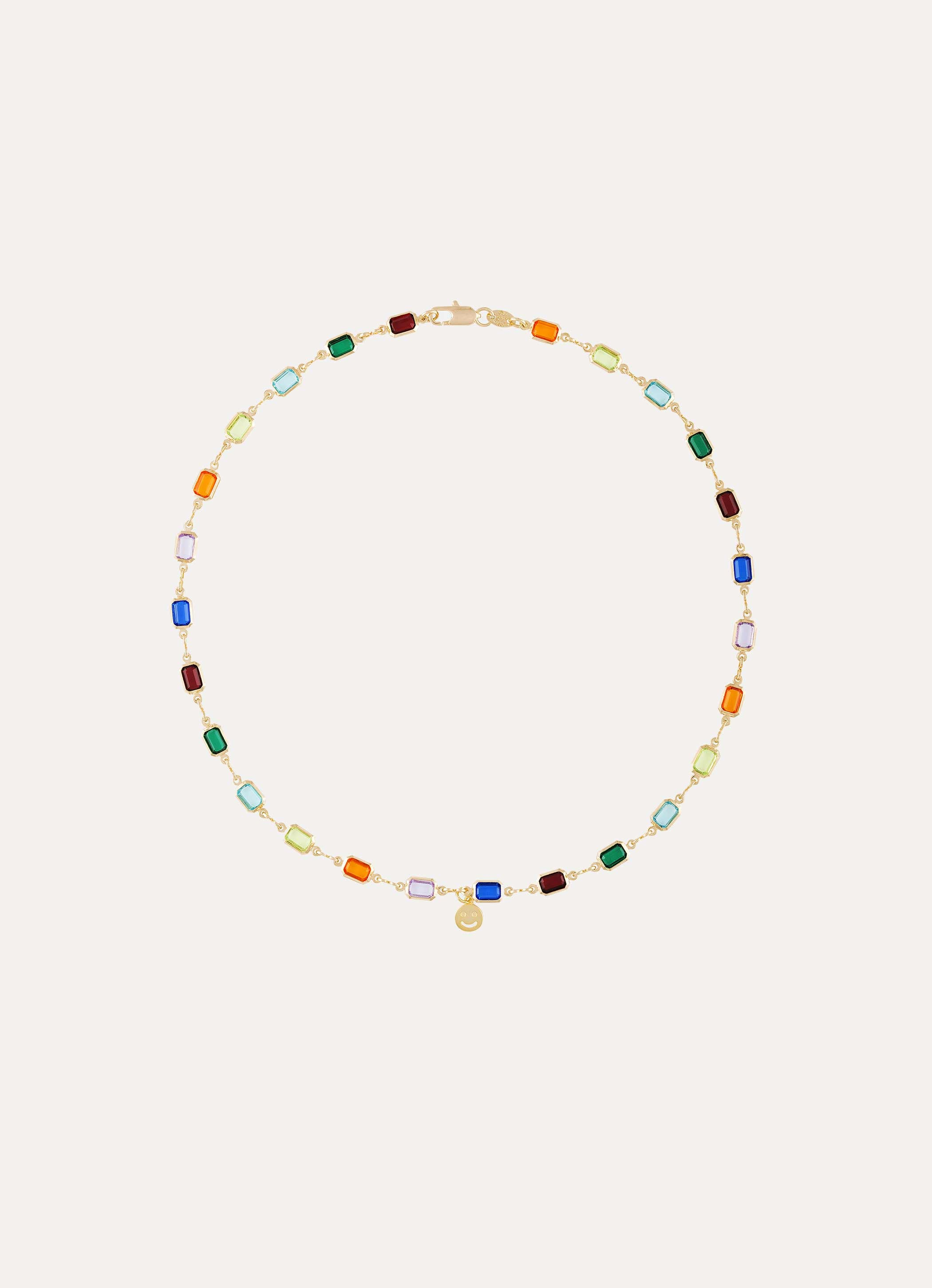 Colorful Necklace with Mini Smiley