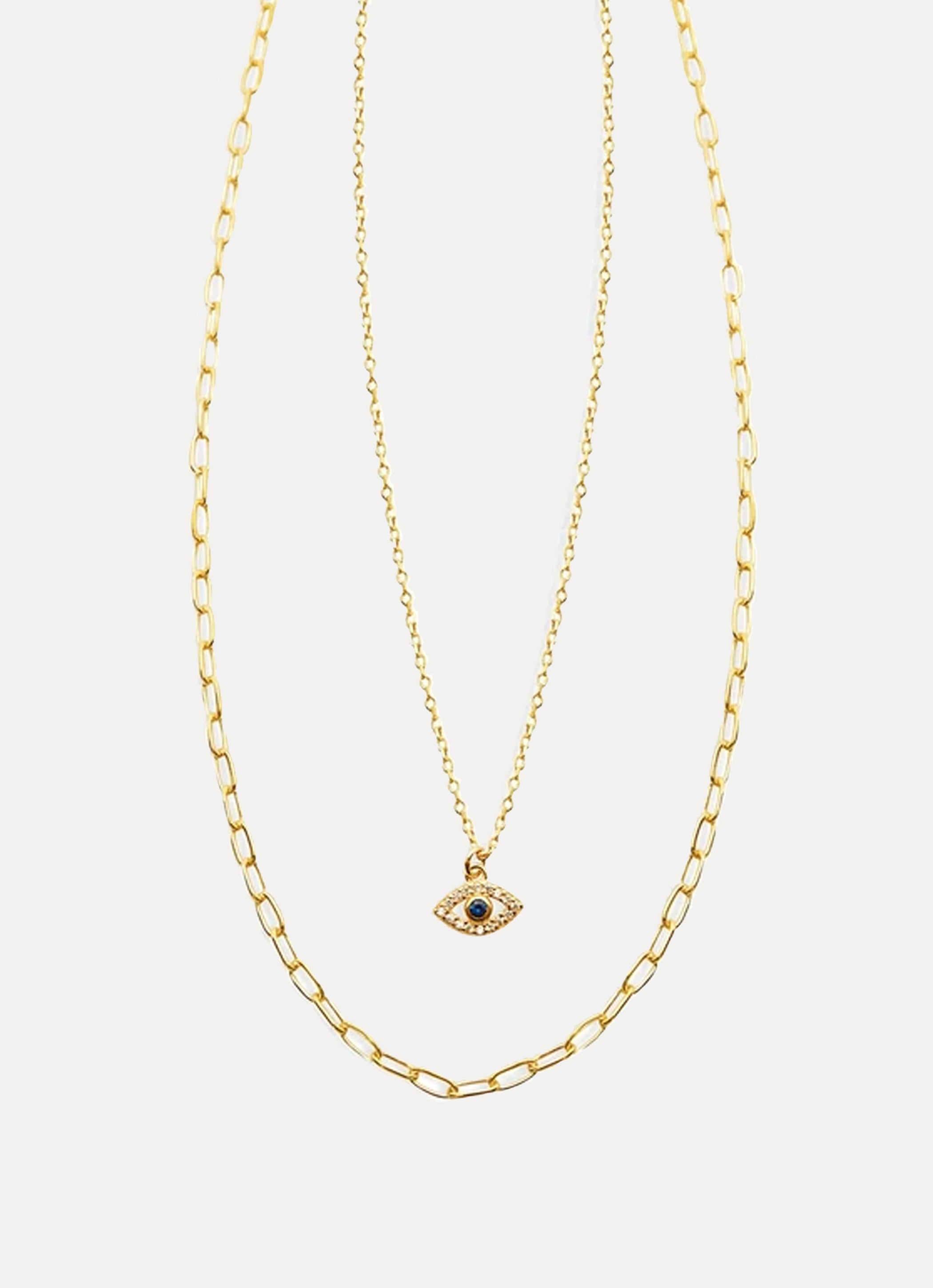 The Layered Evil Eye Necklace