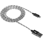 CANYON CFI-3 Lightning USB Cable for Apple, braided, metallic shell, cable length 1m, Dark gray, 14.9*6.8*1000mm, 0.02kg - volkanoshop