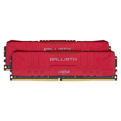Ballistix 32GBkit (2x16GB) DDR4 2666MHz Desktop Gaming Memory - Red - volkanoshop