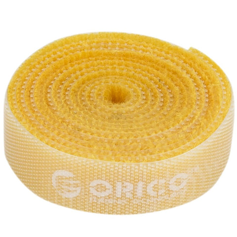 Orico velcro cable ties 1m - Yellow - volkanoshop