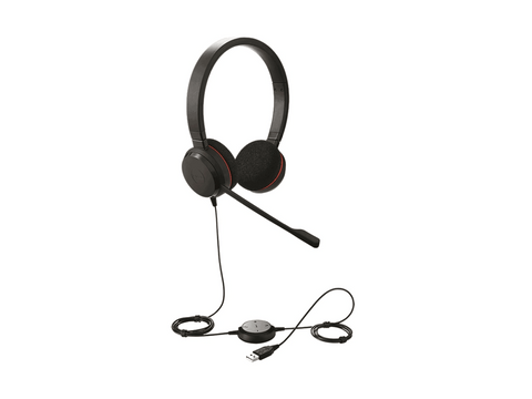 Jabra Evolve-20 Duo Wired USB Headset - volkanoshop