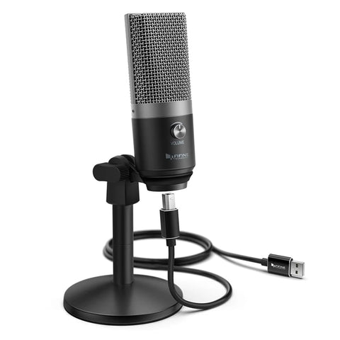 Fifine K670B Cardioid USB Condensor Microphone with Stand - Black - volkanoshop